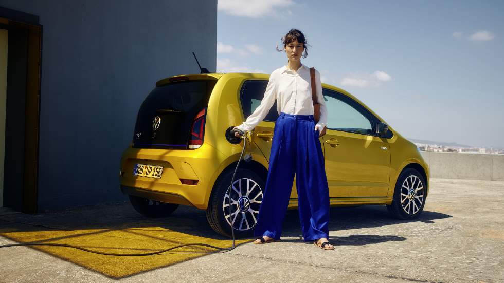 renting volkswagen e-up canarias